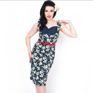 NWT Floral Vanessa Wiggle Lindy Bop Dress